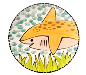 Westchester Happy Shark Plate