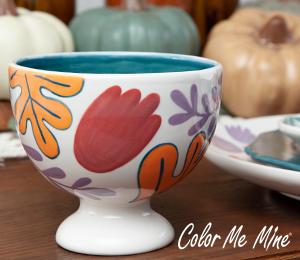 Westchester Floral Pedestal Bowl
