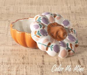 Westchester Floral Pumpkin Box