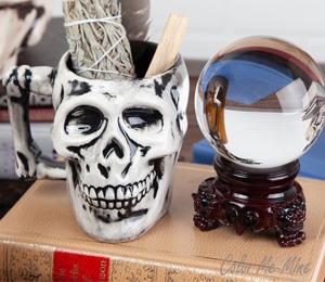 Westchester Antiqued Skull Mug